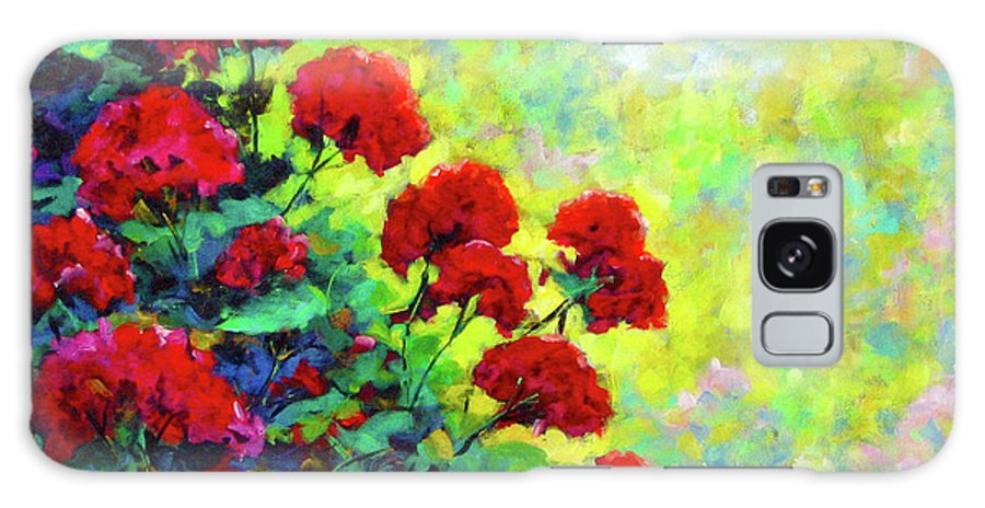 Art Original Galaxy S8 Case featuring the painting Cascade Of Geraniums by Richard T Pranke
