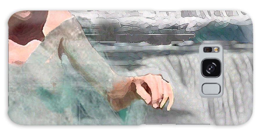 Waterscape Galaxy S8 Case featuring the digital art Cascade by Steve Karol