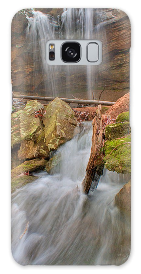 Water Galaxy S8 Case featuring the photograph Cascading Waterfall by Douglas Barnett