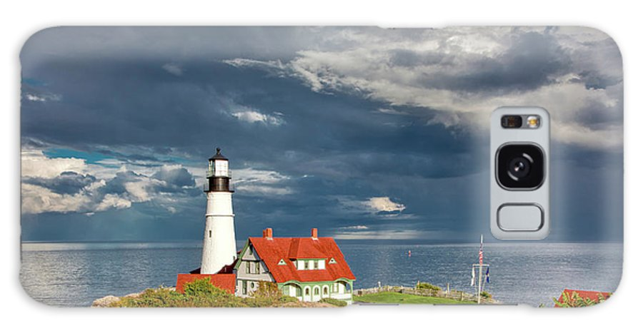 Beautiful Clouds Galaxy S8 Case featuring the photograph Casco Bay Lookout by Susan Cole Kelly