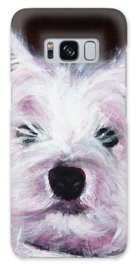 Dog Galaxy S8 Case featuring the painting Cassie by Fiona Jack