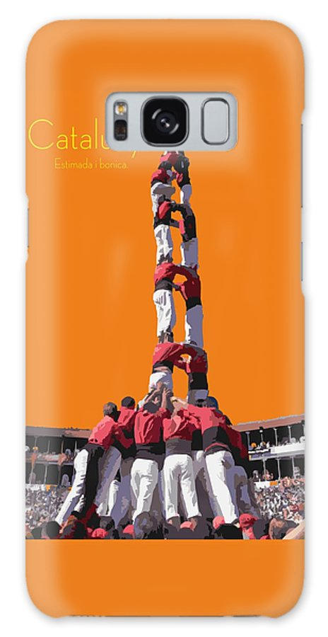 Catalunya Galaxy S8 Case featuring the digital art Castellers De Catalunya by Joaquin Abella