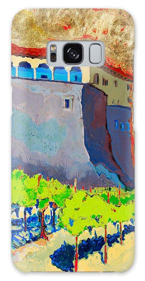 Castle Galaxy S8 Case featuring the painting Castello Di Villafranca by Kurt Hausmann