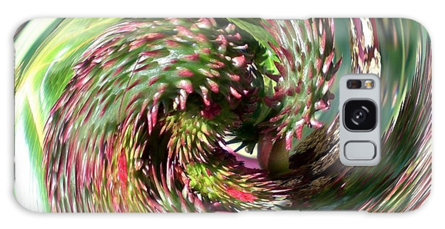 Abstract Galaxy S8 Case featuring the photograph Caster Bean Abstract by Sholeh Mesbah