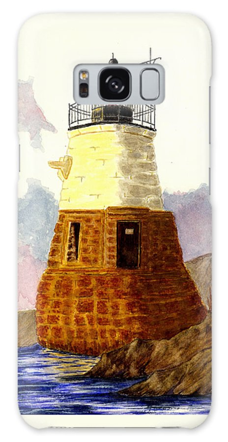 Lighthouse Galaxy S8 Case featuring the painting Castle Hill Lighthouse by Michael Vigliotti