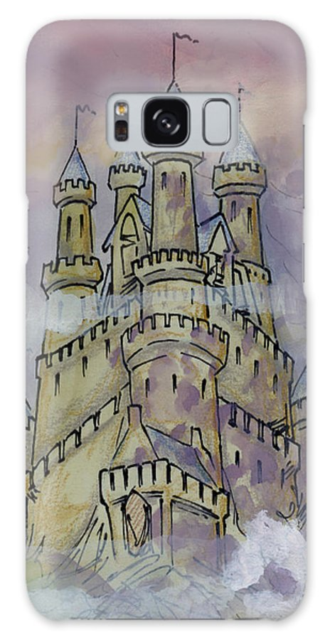 Castle Galaxy S8 Case featuring the greeting card Castle by Kevin Middleton