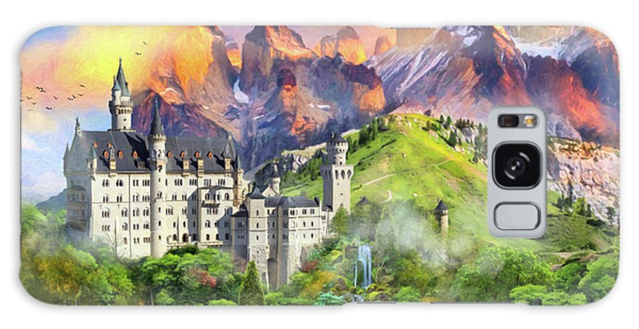 Castle Galaxy S8 Case featuring the digital art Castle Magic by MGL Meiklejohn Graphics Licensing