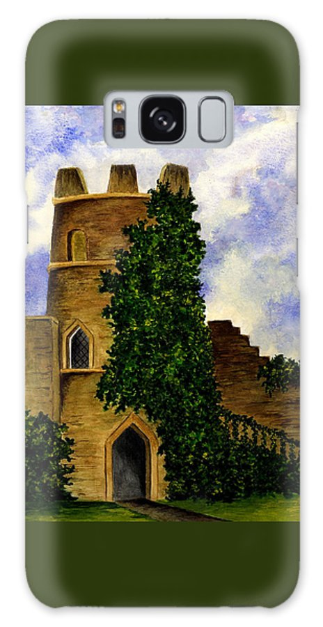 Castle Galaxy S8 Case featuring the painting Castle by Michael Vigliotti