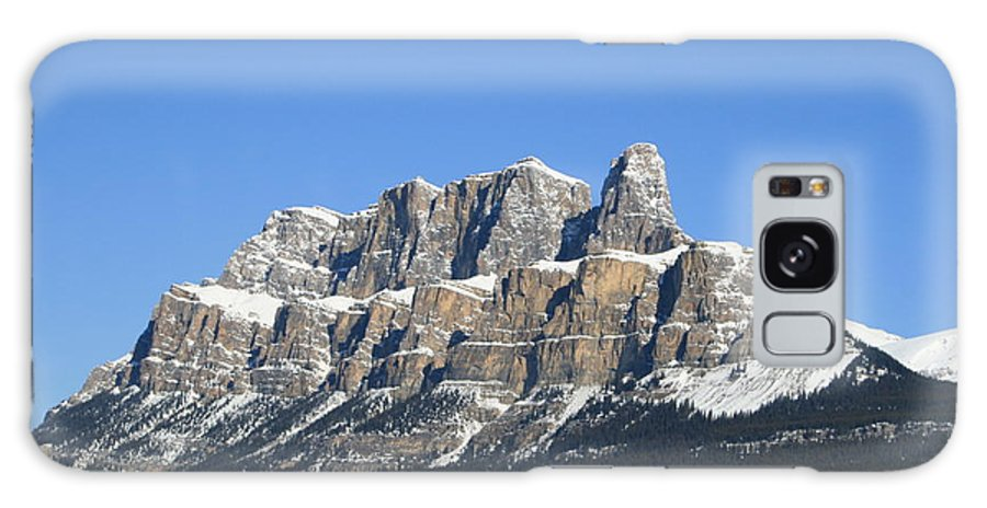 Cascade Mountain Galaxy Case featuring the photograph Castle Mountain Winter by Tiffany Vest