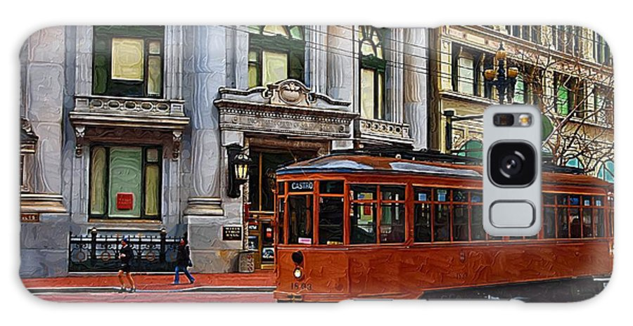 Trolley Galaxy S8 Case featuring the photograph Castro Street Trolley by Tom Reynen