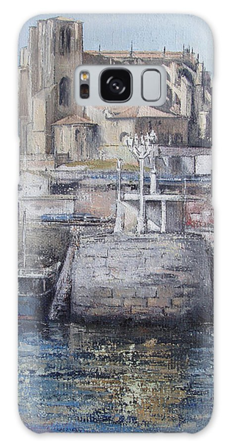 Castro Galaxy S8 Case featuring the painting Castro Urdiales by Tomas Castano
