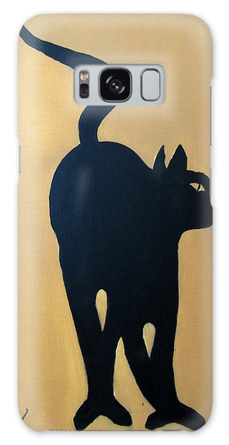 Cat Galaxy Case featuring the painting Cat Dance..... Optical Illusion by Patrick Trotter