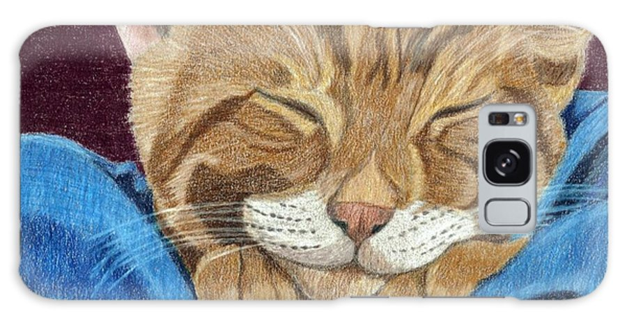 Cat Galaxy S8 Case featuring the painting Cat Nap by Anita Putman