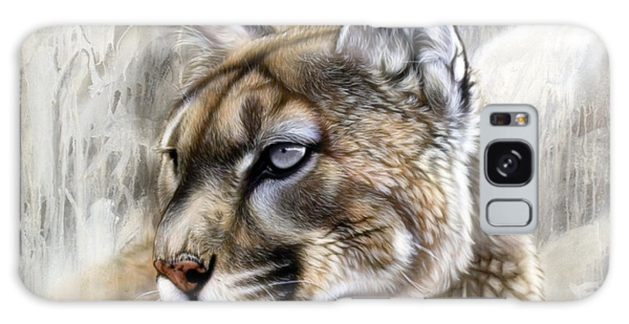 Acrylic Galaxy S8 Case featuring the painting Catamount by Sandi Baker