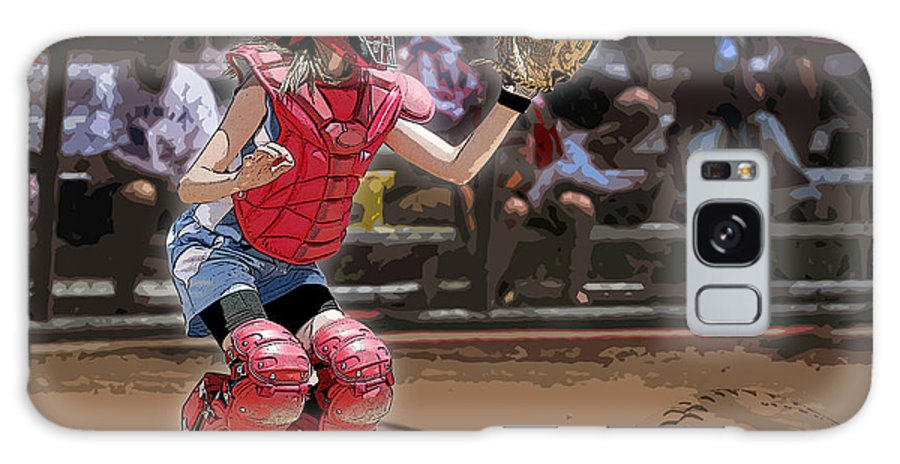 Softball Galaxy S8 Case featuring the photograph Catch It by Kelley King