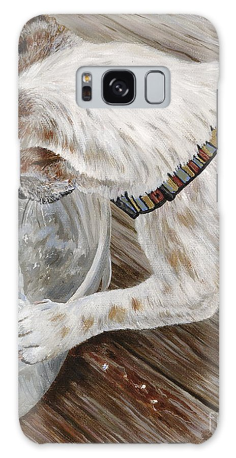 Pet Portrait Galaxy S8 Case featuring the painting Catch Of The Day by Danielle Perry