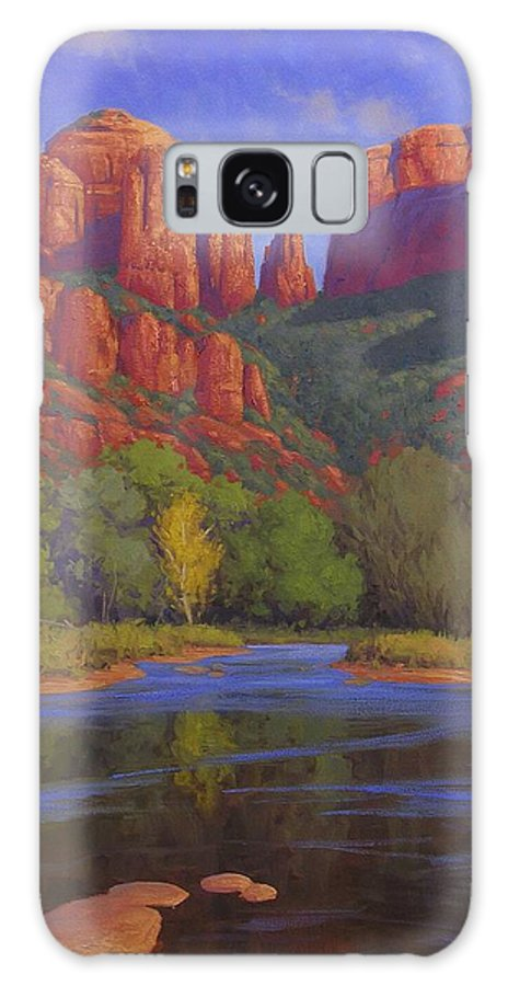 Sedona Galaxy Case featuring the painting Cathedral Morning by Cody DeLong