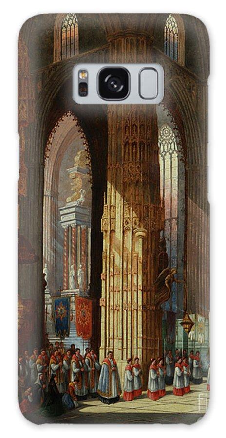 Cathedral Of San Miguel Galaxy S8 Case featuring the painting Cathedral Of San Miguel by MotionAge Designs