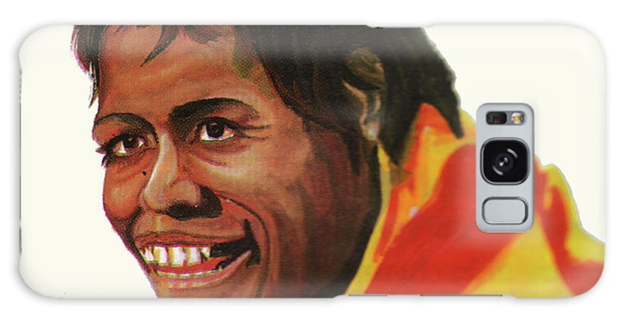 Cathy Freeman Galaxy S8 Case featuring the painting Cathy Freeman by Emmanuel Baliyanga