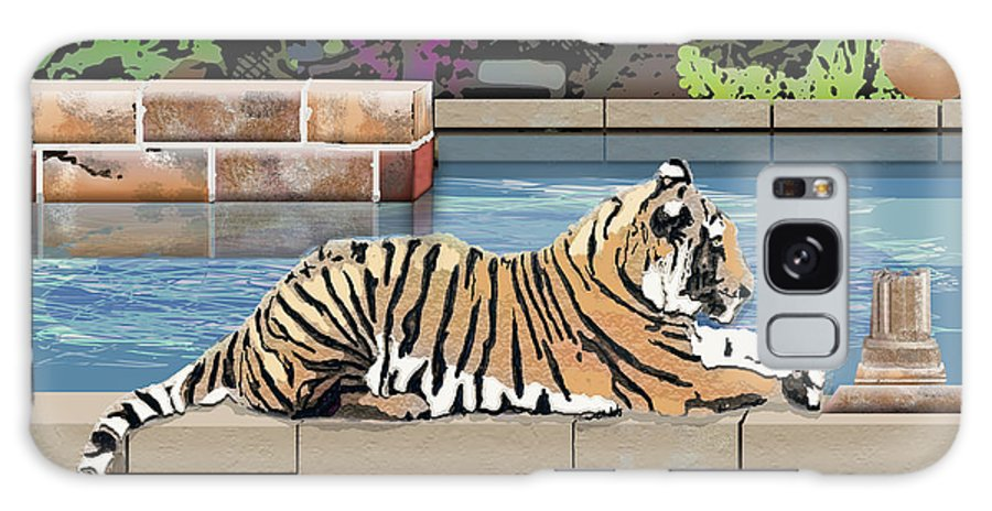 Tiger Galaxy Case featuring the digital art Catnap by Arline Wagner