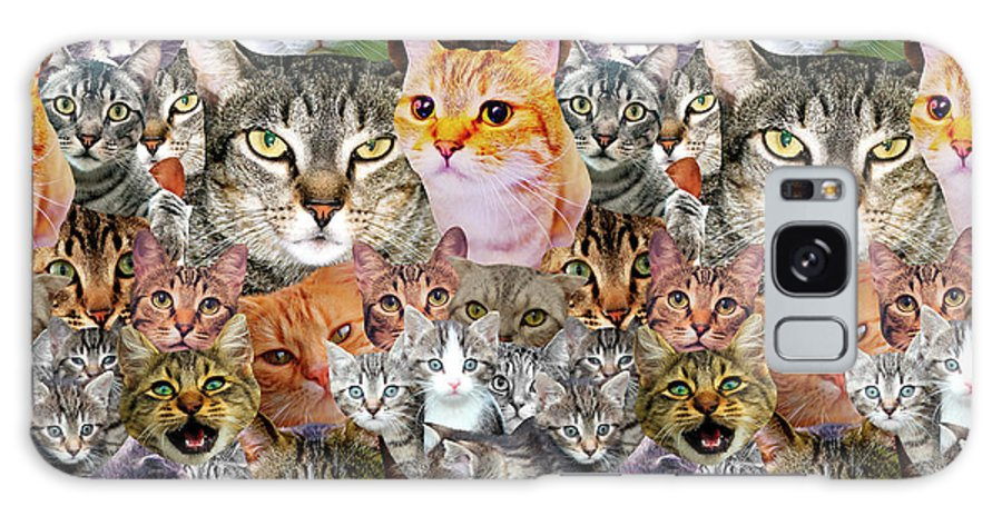 Cats Galaxy Case featuring the digital art Cats by Gloria Sanchez