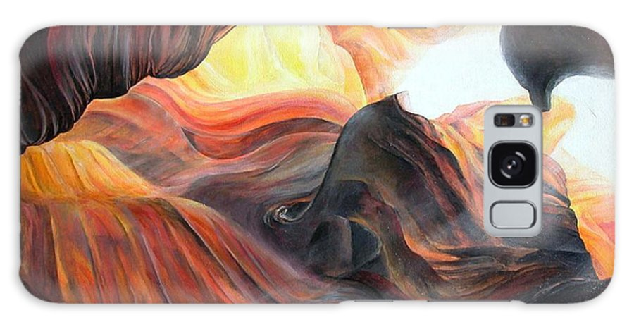 Landscape Galaxy Case featuring the painting Caverne by Muriel Dolemieux
