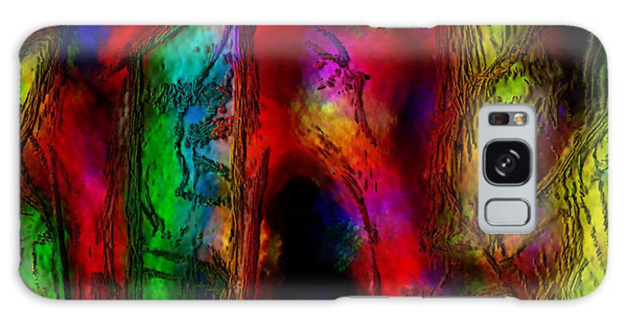 Abstract Galaxy Case featuring the painting Caverns Of The Mind by Dee Flouton