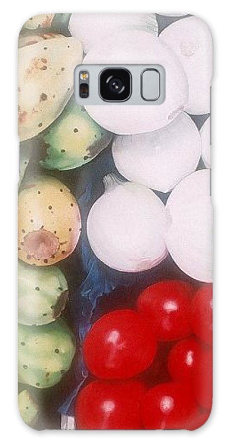 Hyperrealism Galaxy Case featuring the painting Cebollas Tunas Y Tomates by Michael Earney