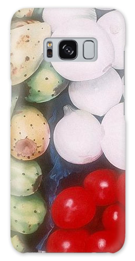 Hyperrealism Galaxy S8 Case featuring the painting Cebollas Tunas Y Tomates by Michael Earney