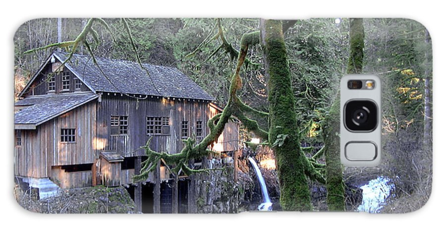 Landscape Galaxy Case featuring the photograph Cedar Creek Grist Mill by Larry Keahey