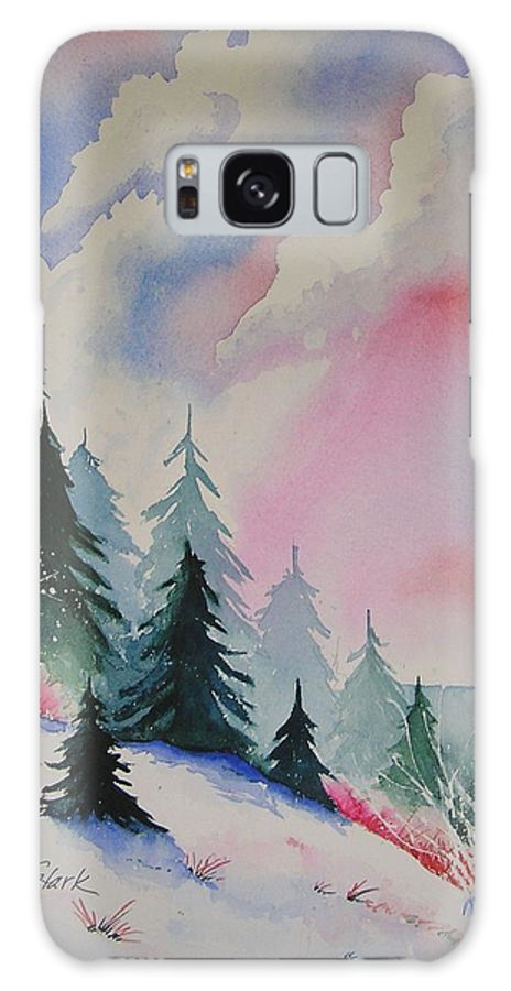 Snow Galaxy Case featuring the painting Cedar Fork Snow by Karen Stark