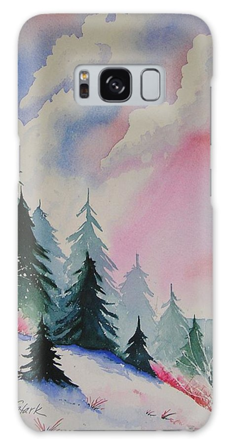 Snow Galaxy S8 Case featuring the painting Cedar Fork Snow by Karen Stark