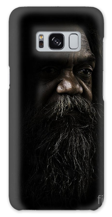 Fullblood Aborigine Galaxy S8 Case featuring the photograph Cedric In Shadows by Sheila Smart Fine Art Photography