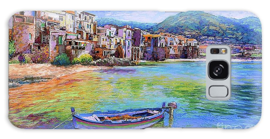Italy Galaxy Case featuring the painting Cefalu Sicily Italy by Jane Small