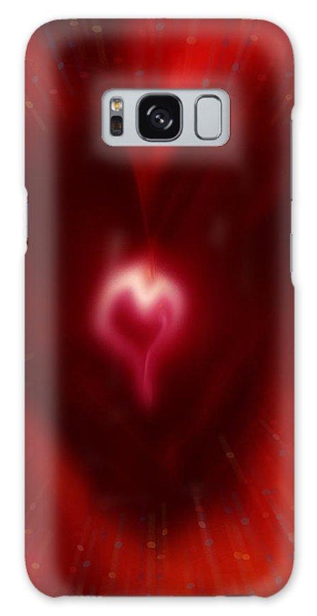 Hearts Galaxy Case featuring the digital art Celebrate Love by Linda Sannuti