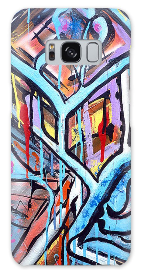 Original Galaxy S8 Case featuring the painting Celebrating The Future - Right by Larry Calabrese
