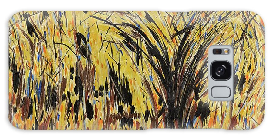 Abstract Galaxy S8 Case featuring the painting Celebration by Jim Benest