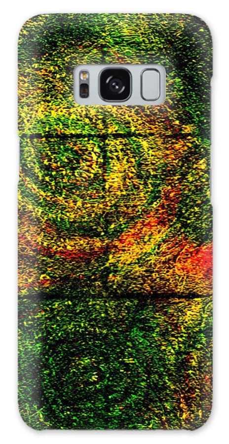 Abstract Galaxy Case featuring the painting Celestial Grid by Wayne Potrafka