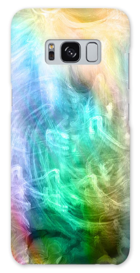 Digital Art Galaxy S8 Case featuring the digital art Celestial Light by Linda Sannuti