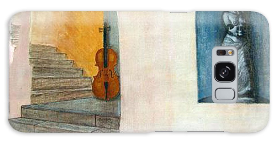 Cello Galaxy S8 Case featuring the painting Cello No 2 by Richard Le Page