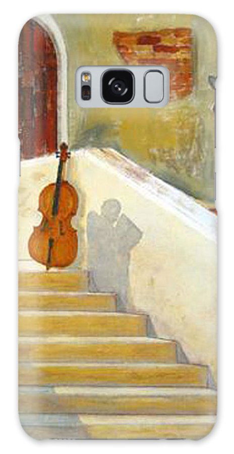 Cello Galaxy S8 Case featuring the painting Cello No 3 by Richard Le Page