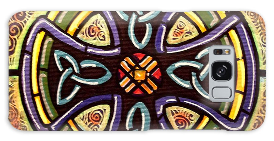 Celtic Galaxy Case featuring the painting Celtic Cross 2 by Jim Harris