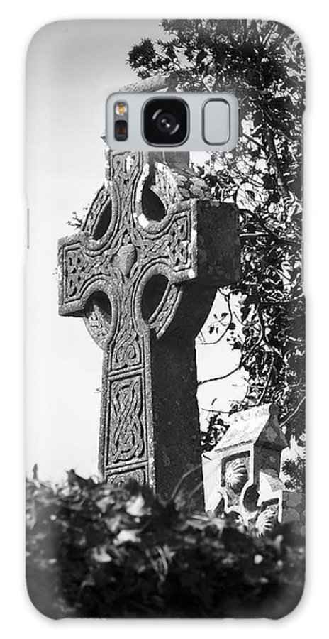 Celtic Galaxy S8 Case featuring the photograph Celtic Cross At Fuerty Cemetery Roscommon Ireland by Teresa Mucha
