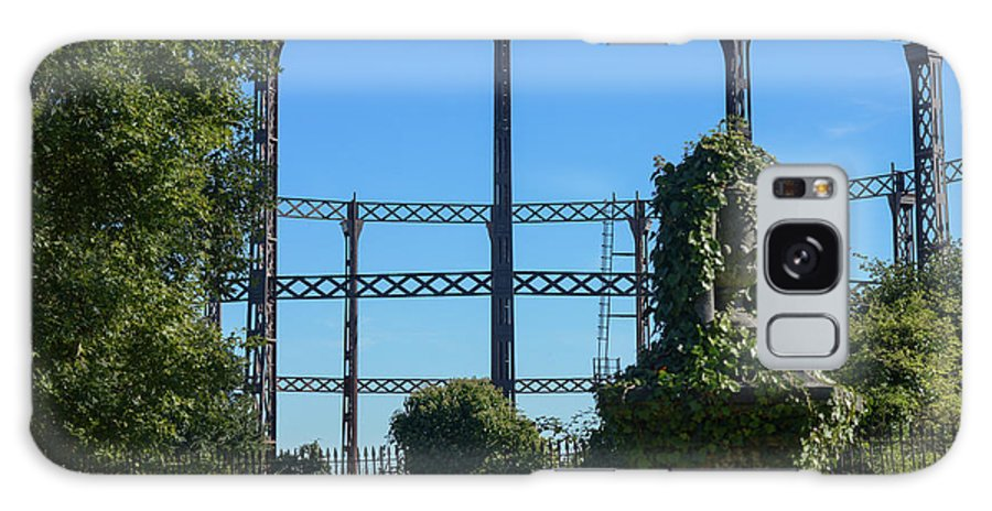 Peaceful Galaxy S8 Case featuring the photograph Cemetery And Gas Works by F Helm