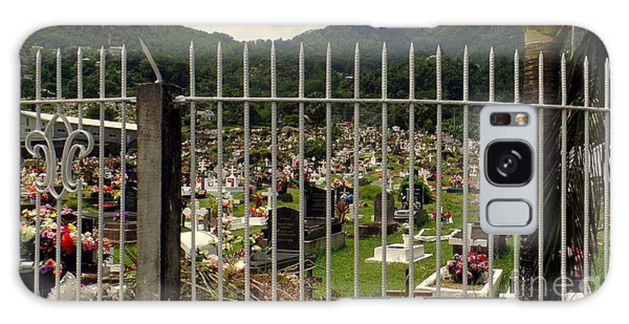 Cemetery Galaxy S8 Case featuring the photograph Cemetery In Seychelles Islands by John Potts