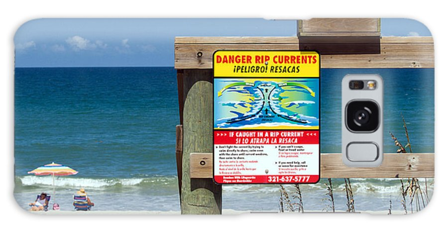 Florida; Beach; Surf; Surfing; Shore; Coast; Sand; Sandy; Waves; Summer; Central; Melbourne; Rip; Cu Galaxy S8 Case featuring the photograph Central Florida Beach Warning by Allan Hughes