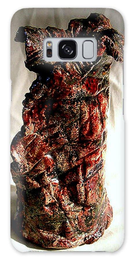 Ceramic Galaxy S8 Case featuring the ceramic art Ceramic Red Vase by Madalena Lobao-Tello