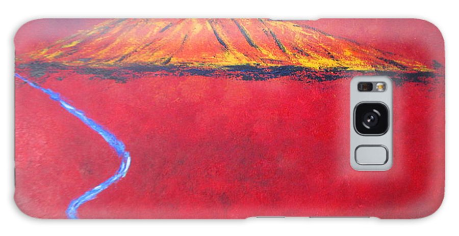 Mexican Art Galaxy S8 Case featuring the painting Cerro In Red by Sonia Flores Ruiz