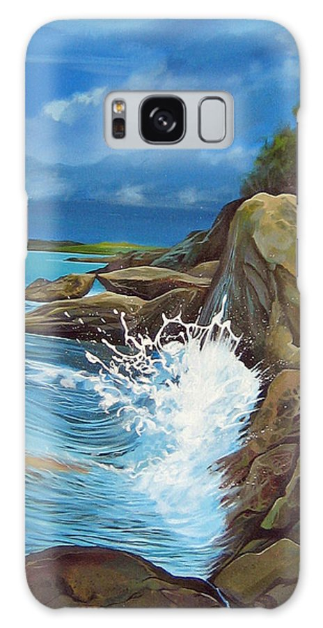 Ocean Galaxy Case featuring the painting Cerulean by Hunter Jay