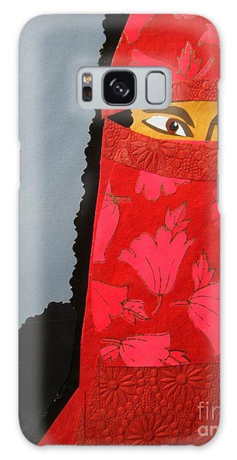Woman Galaxy Case featuring the mixed media Chador by Debra Bretton Robinson